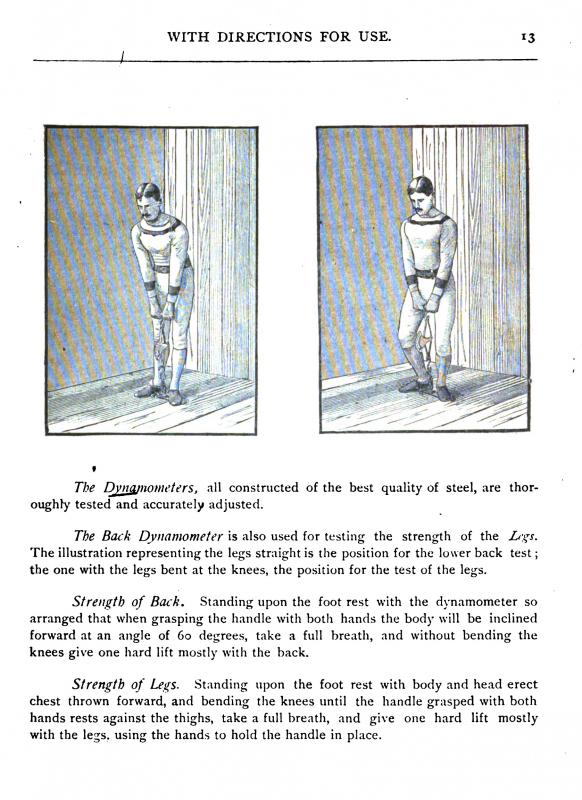 "Dynamometer from Dudley Allen Sargent's ""Anthropometric Apparatus with Directions for Measuring and Testing the Principal Physical Characteristics of the Human Body"" 1876"