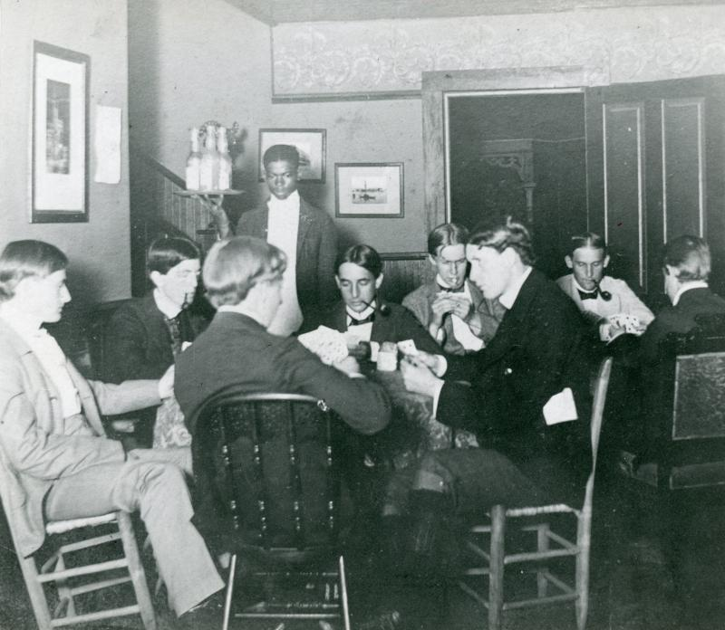 Sewanee students playing cards