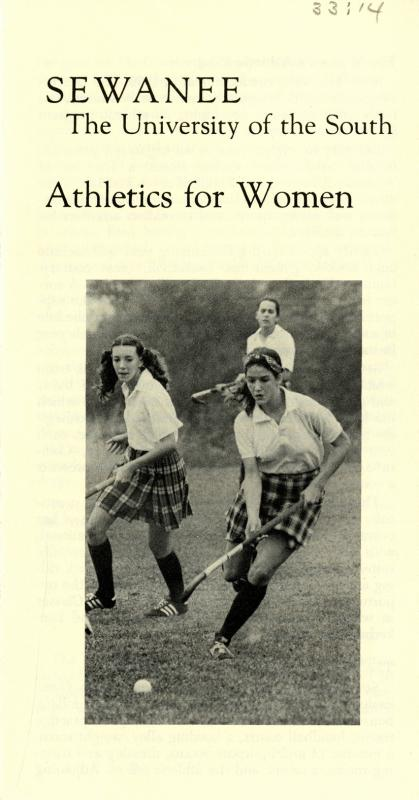 Sewanee: The University of the South&lt;br /&gt;<br /> Athletics for Women