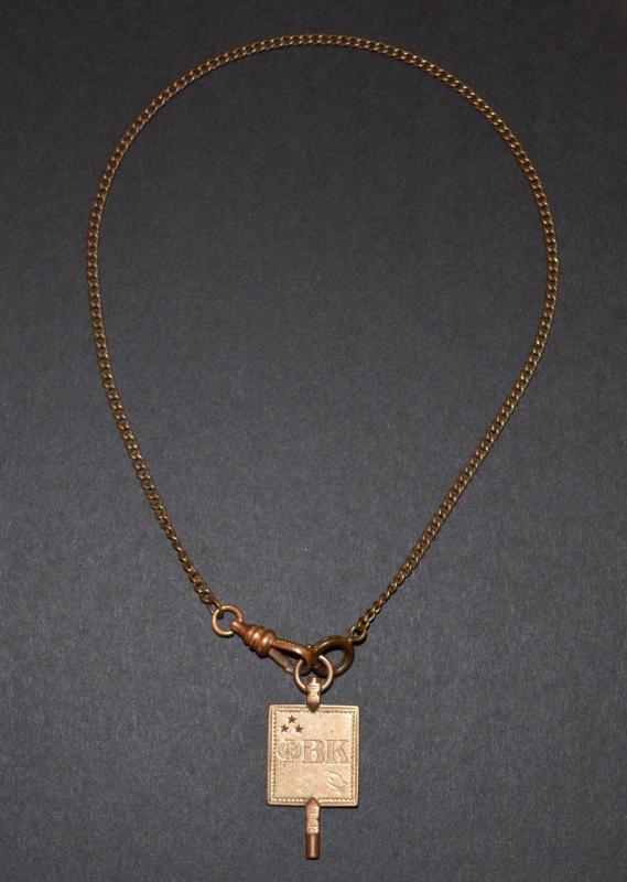 Phi Beta Kappa key and chain