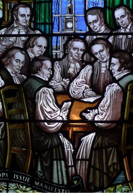 Meeting of the Southern Bishops - All Saints' Chapel stained glass window