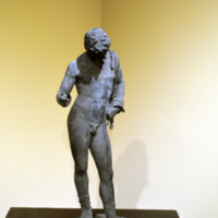 Narcissus (after an unidentified 5th century BC Greek original); 19th century; bronze.